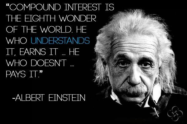 Albert Eintein rẳng định lãi suất kép là kỳ quan thứ 8 của thế giới