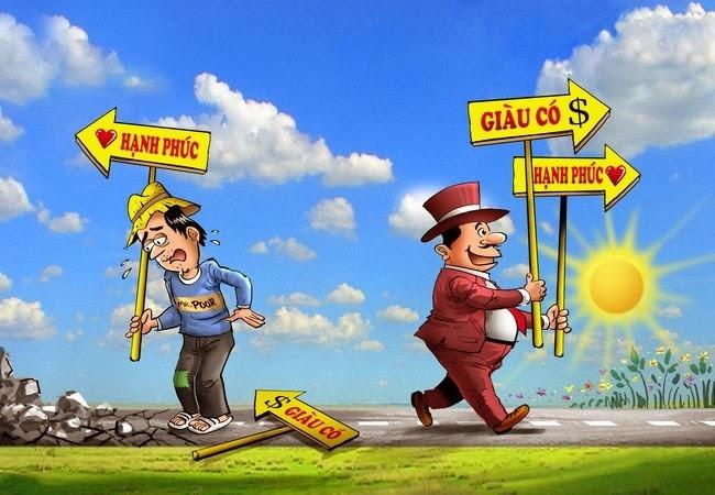 Người nghèo không đặt mục tiêu làm giàu, họ chỉ muốn an nhiên hạnh phúc, người giàu đặt mục tiêu cả hai